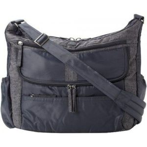 LUG Hula Hoop carry all messenger diaper bag gray